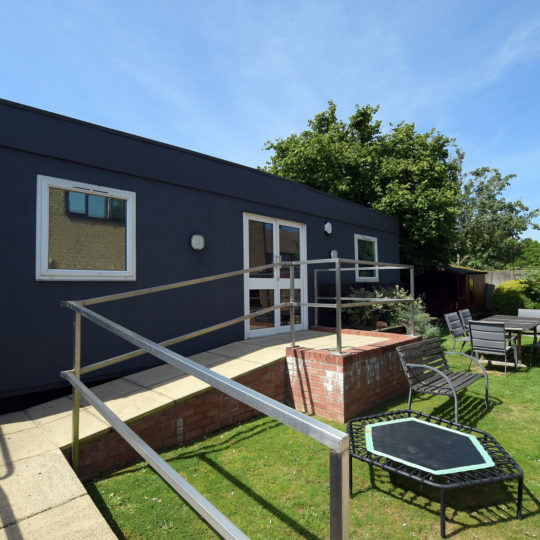 Manager's office and trampoline at 23 Duston Road