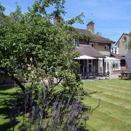 The back garden at 144 Boughton Green Road