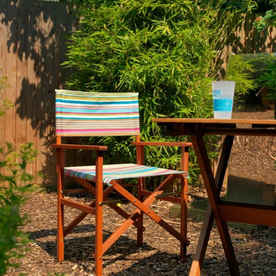 Table and chair in the garden at 8 Kingsthorpe Grove